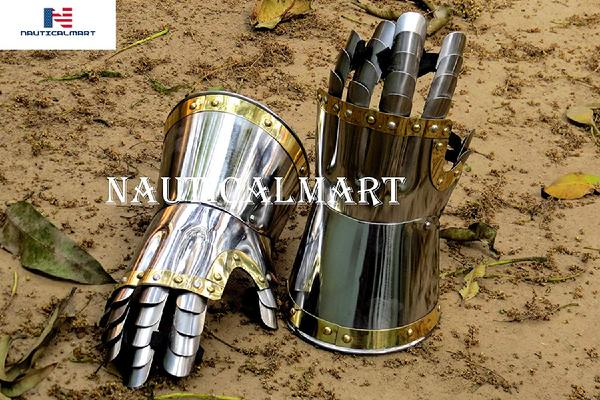Churberg Hourglass 14th Century Armor Gauntlets Functional 18 Gauge Carbon Steel