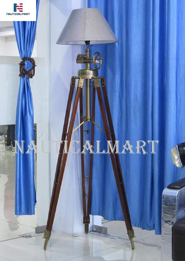 Nauticalmart Royal Marine Tripod Signal Lamp for Drawing Room